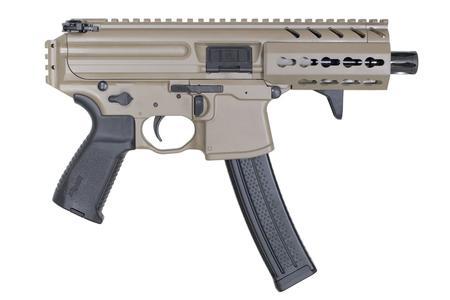 Sig Sauer MPX 9mm Flat Dark Earth Pistol with KeyMod Rail and 4 5 Inch  Barrel