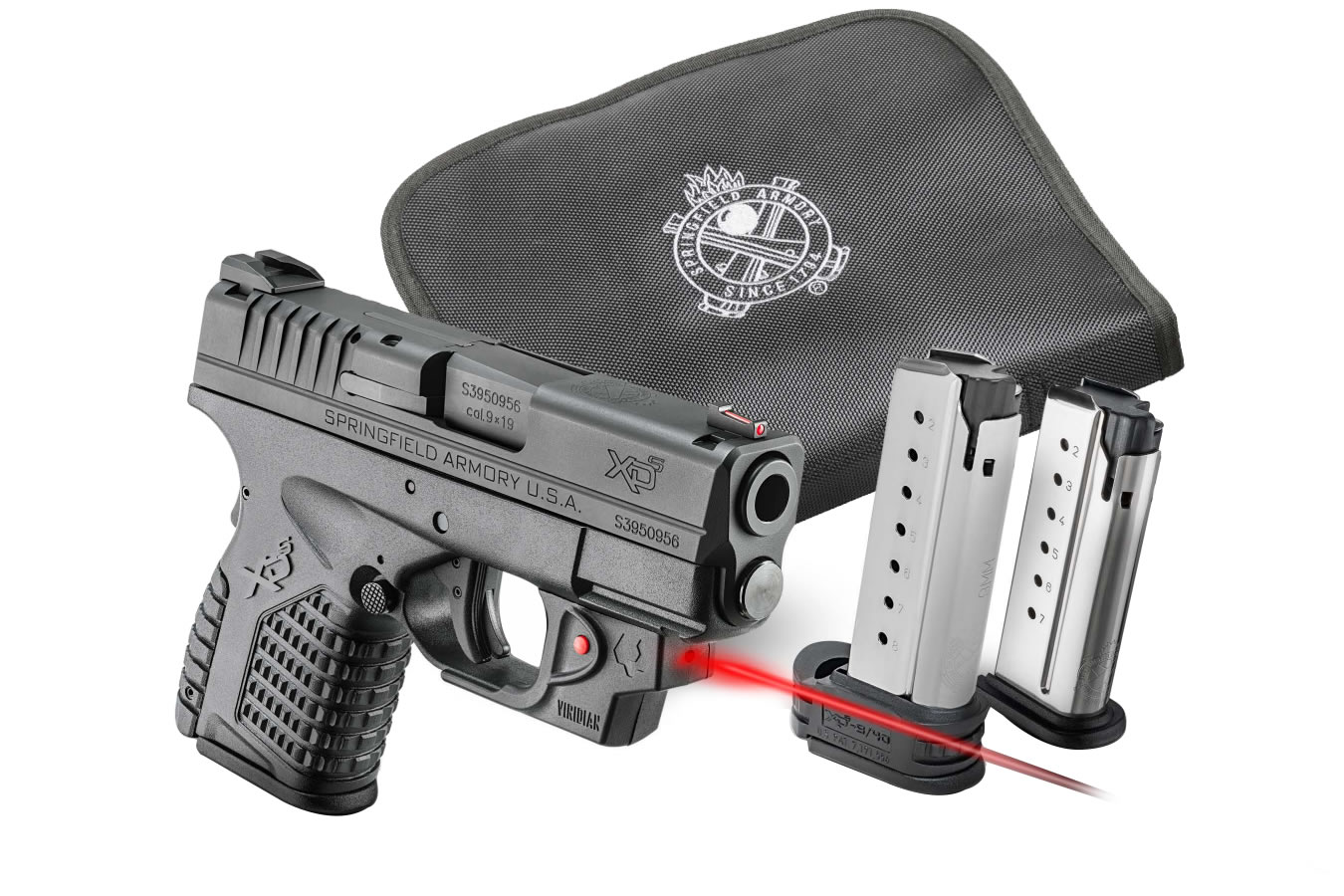 XDS 3.3 45 ACP WITH VIRIDIAN LASER