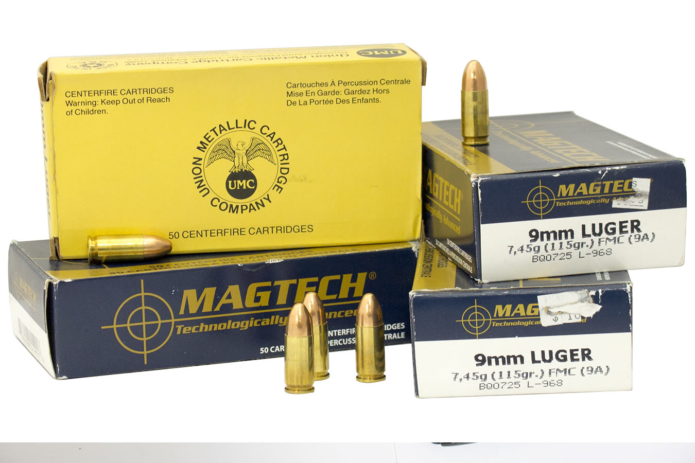 Lot of UMC and Magtech 9mm Ammunition (200 Rounds)