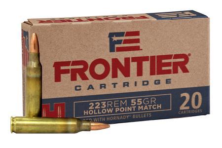 223 REM 55 GR HP MATCH FRONTIER 20/BOX