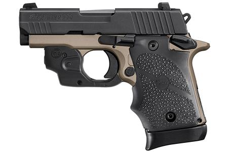 SIG SAUER P938 DESERT BRONZE TWO-TONE 9MM W/LASER
