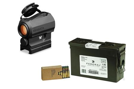 VORTEX OPTICS SPARC AR Red Dot with Federal XM855 5.56mm 62gr 420 Round Ammo Can