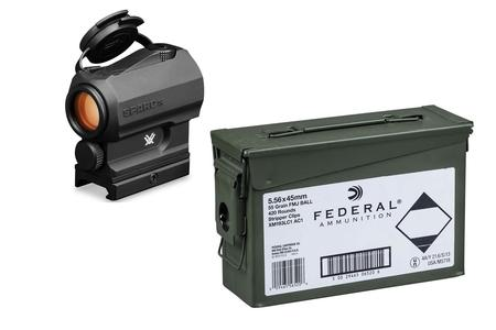 Vortex SPARC AR Red Dot with Federal XM193 5.56mm 55gr 420 Round Ammo Can