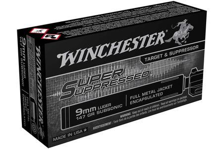 Winchester 9mm Luger 147 gr FMJ-Encapsulated Super Suppressed 50/Box