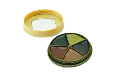 5 COLOR CAMO FACE PAINT KIT WITH MIRROR