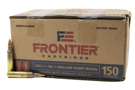 HORNADY 223 Rem 55 gr Hollow Point Match Frontier 150/Box