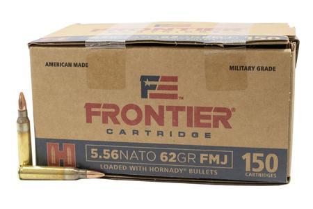Hornady 5.56 NATO 62 gr FMJ Frontier 150/Box