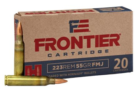 HORNADY 223 Rem 55 gr FMJ Frontier 500 Round Case