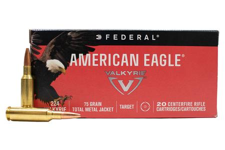 FEDERAL AMMUNITION 224 Valkyrie 75 gr Total Metal Jacket American Eagle 20/Box