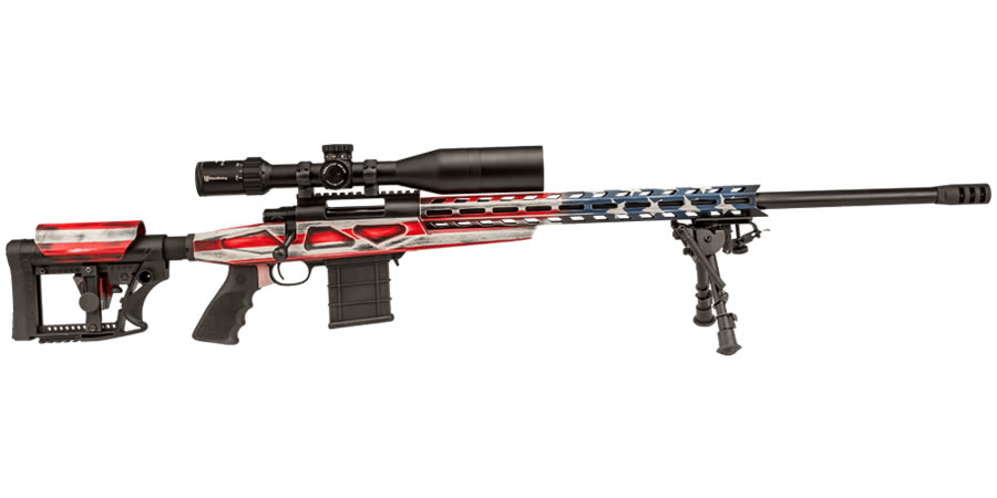 legacy howa 6 5 creedmoor american flag chassis rifle with scope