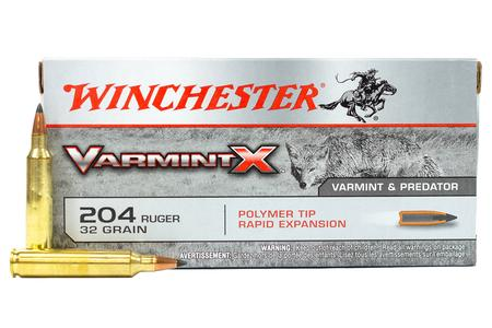 WINCHESTER AMMO 204 Ruger 32 gr Polymer Tip Varmint X 20/Box