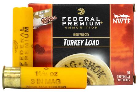 FEDERAL AMMUNITION 20 Gauge 3 Inch 1 5/16 oz 6 Shot Turkey Load Mag Shok 10/Box
