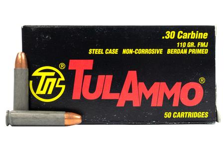 TULA AMMO 30 Carbine 110 gr FMJ Steel Case 50/Box