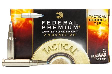 Federal 308 Win 168 gr Bonded Tip Tactical Police Trade Ammo 20/Box