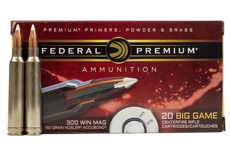 FEDERAL AMMUNITION 300 WIN Mag 180 gr Nosler Accubond Vital Shok 20/Box