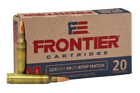 Hornady 223 Rem 68 gr BTHP Match Frontier 500 Round Case