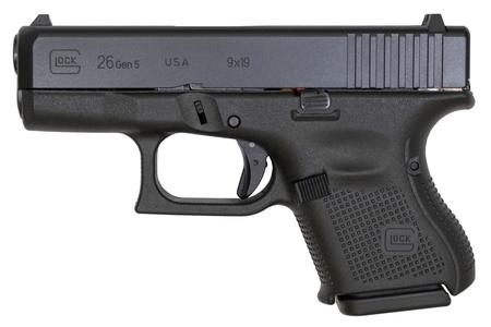 GLOCK 26 GEN5 9MM WITH FIXED SIGHTS (USA MADE)