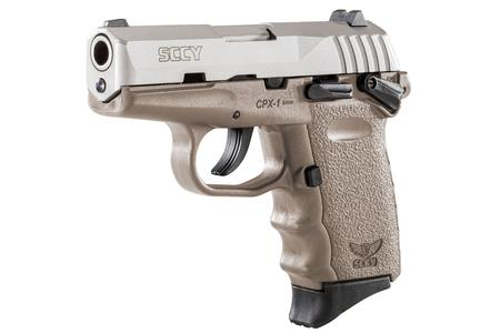 SCCY CPX-1 9mm Pistol with Flat Dark Earth Frame and Stainless Steel Slide