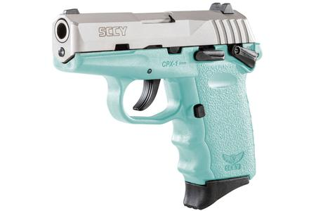 CPX-1 9MM SCCY BLUE AND STAINLESS FRAME