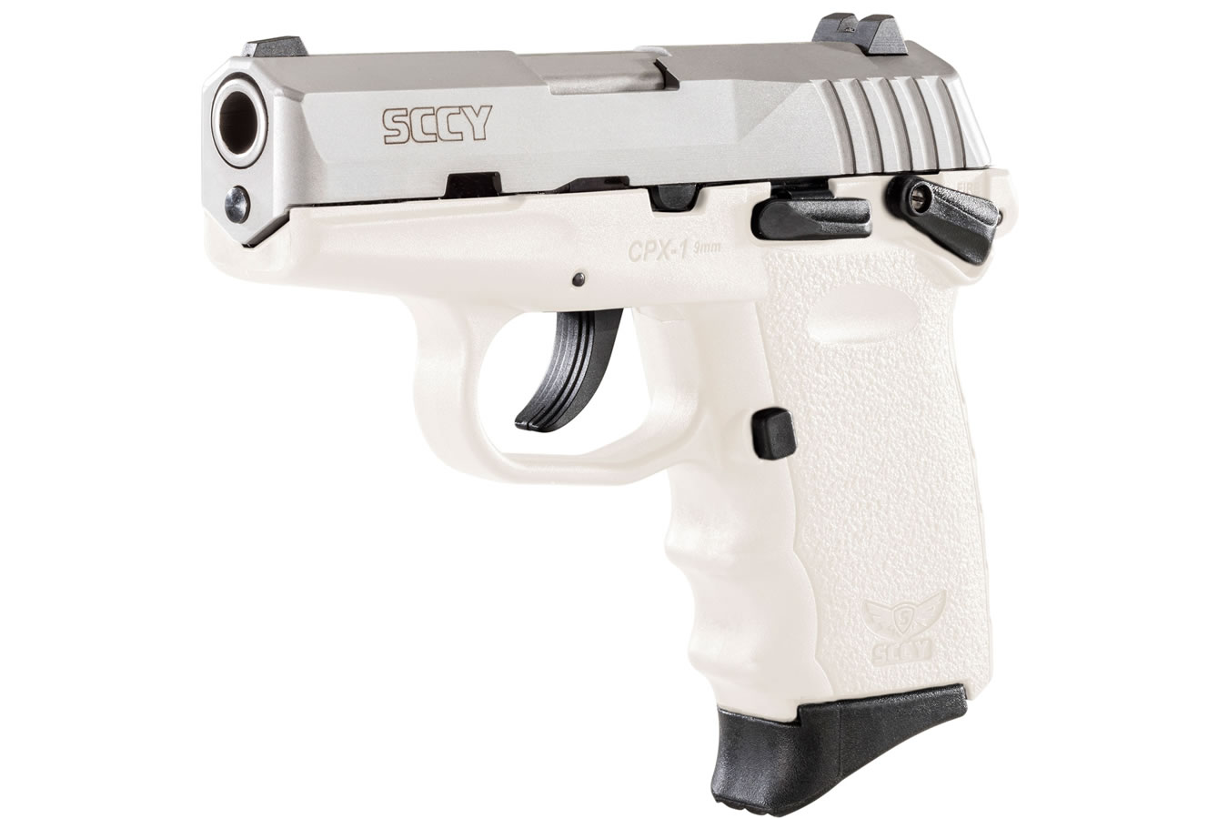 CPX-1 9MM WHITE/SATIN MANUAL SAFETY