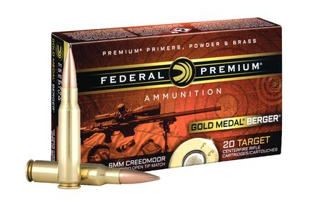 FEDERAL AMMUNITION 6mm Creedmoor 105 gr Hybrid OTM Gold Medal Berger 20/Box
