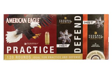 FEDERAL AMMUNITION 40SW Practice and Defend 120 Round Value Pack