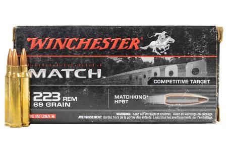 Winchester 223 Remington 69 gr Matchking HPBT Competitive Target 20/Box