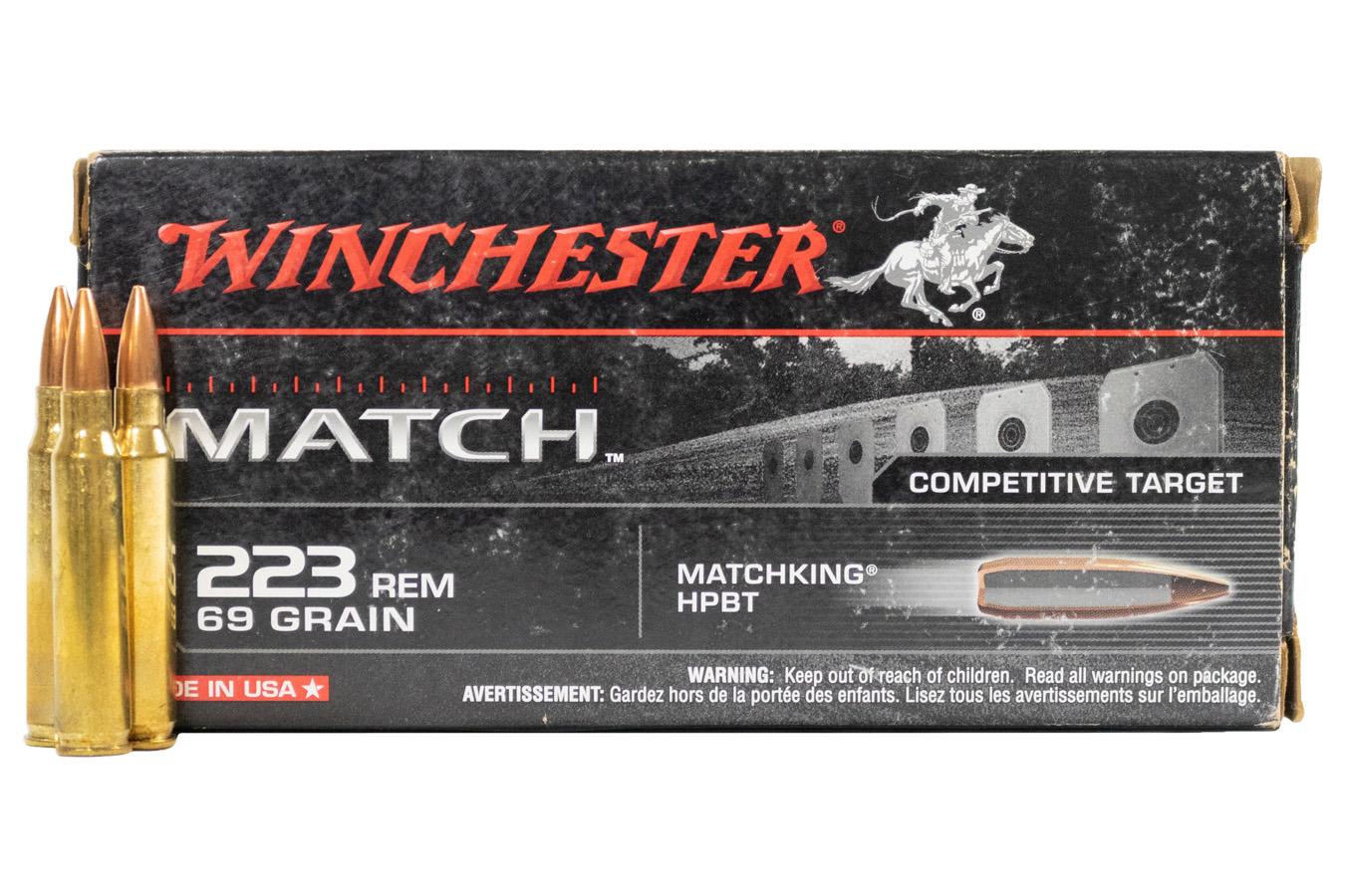 winchester 223 rem 69 gr matchking hpbt competitive target 20 box