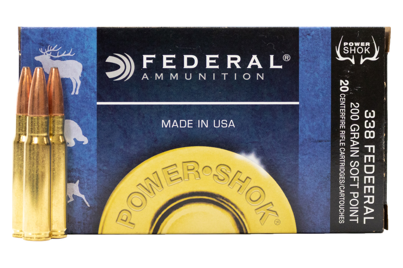 338 FEDERAL 200 GR SOFT POINT POWER-SHOK