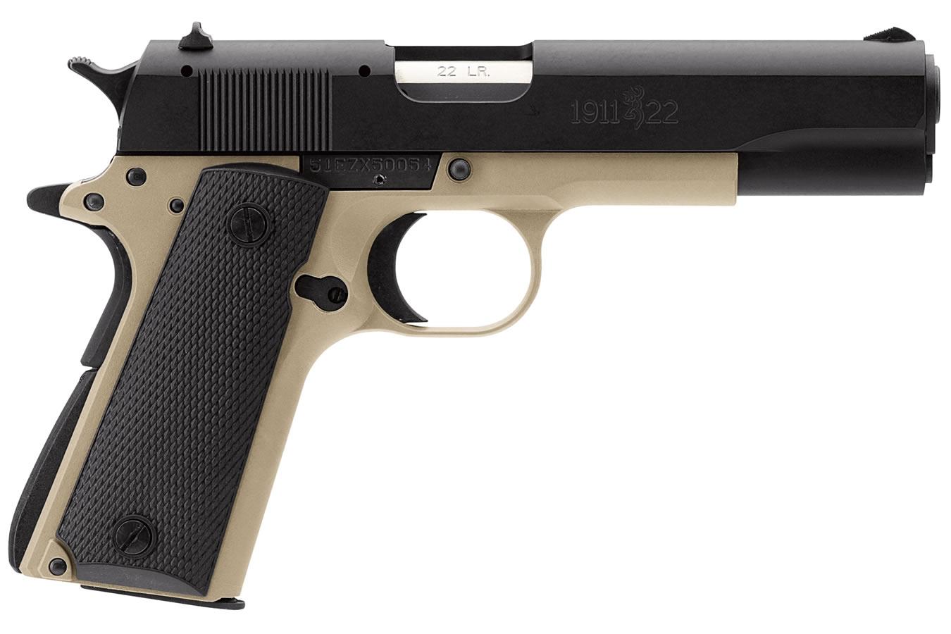 Browning 1911-22 A1 22LR Full-Size Desert Tan Rimfire Pistol ...
