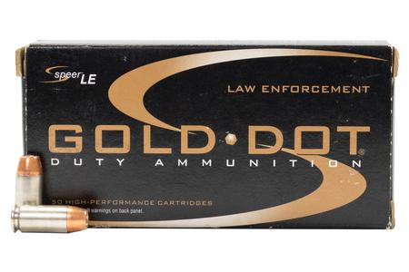 SPEER AMMUNITION 40SW 165 gr Gold Dot Hollow Point Police Trade Ammo 50/Box