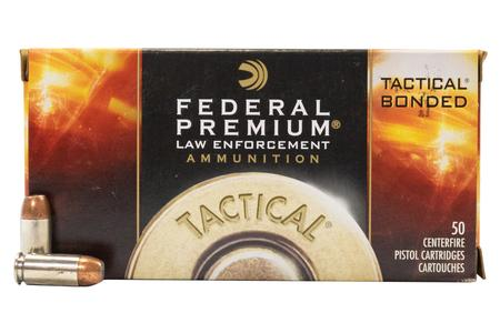 FEDERAL AMMUNITION 40SW 180 gr Tactical Bonded Hollow Point Police Trade Ammo 50/Box