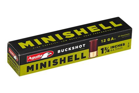 Aguila 12 Gauge 1-3/4 in 5/8 oz. MiniShell Buckshot 20/Box