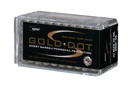 SPEER AMMUNITION 22 WMR 40 gr Gold Dot HP Short Barrel 50/Box