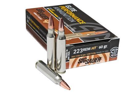 Sig Sauer 223 REM 60 gr Elite Hunting HT 20/Box