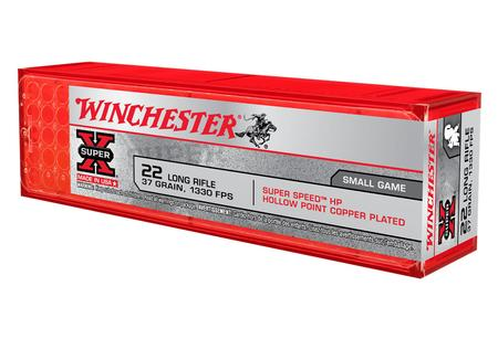 Winchester 22LR 37 gr Copper Plated Super Speed HP 100/Box