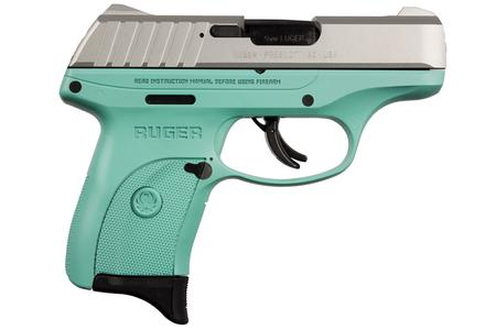 RUGER EC9S 9MM WITH TURQUOISE GRIP FRAME STAINLESS