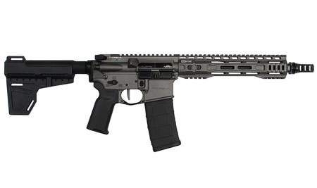 BG DEFENSE SIPR Type-A 5.56mm Pistol with Shockwave Blade Stock and Tungsten Finish
