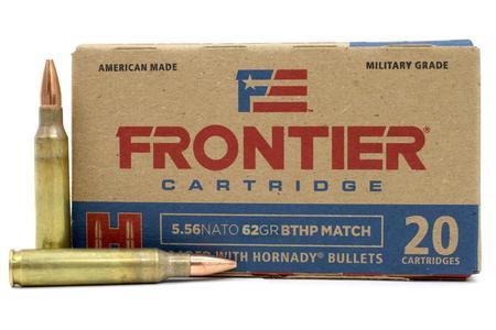 HORNADY 5.56 NATO 62 gr Frontier BTHP Match 20/Box