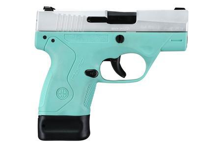 Beretta BU9 Nano 9mm Pistol with Robins Egg Blue Frame and Stainless Slide