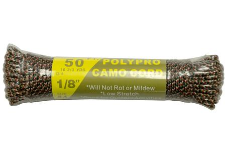 50 FT. 1/8 INCH CAMO POLY ROPE