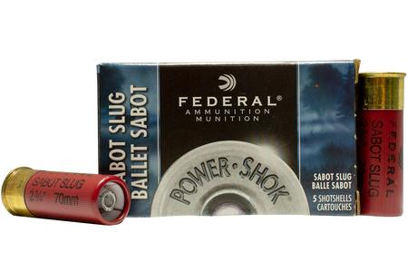 FEDERAL AMMUNITION 12 GA 2 3/4 Inch 1 oz Power Shok Sabot Slug 5/Box