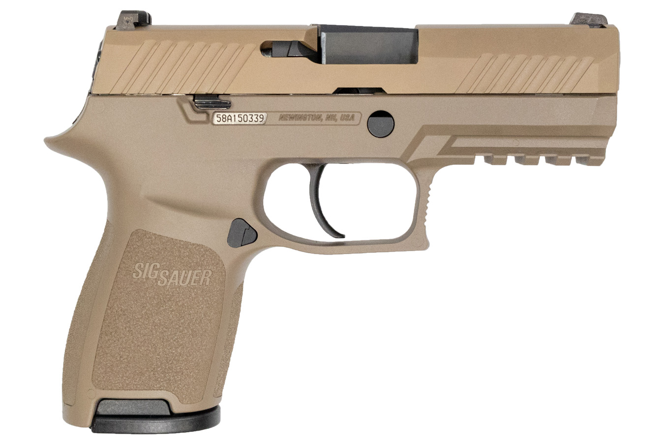 P320 Compact 9mm Flat Dark Earth Pistol with 3 Magazines (LE)