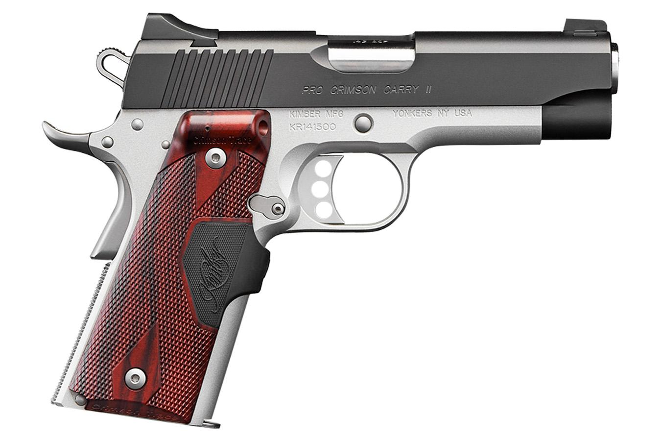 Pro Crimson Carry II 45 ACP 1911 Pistol with Crimson Trace Lasergrip
