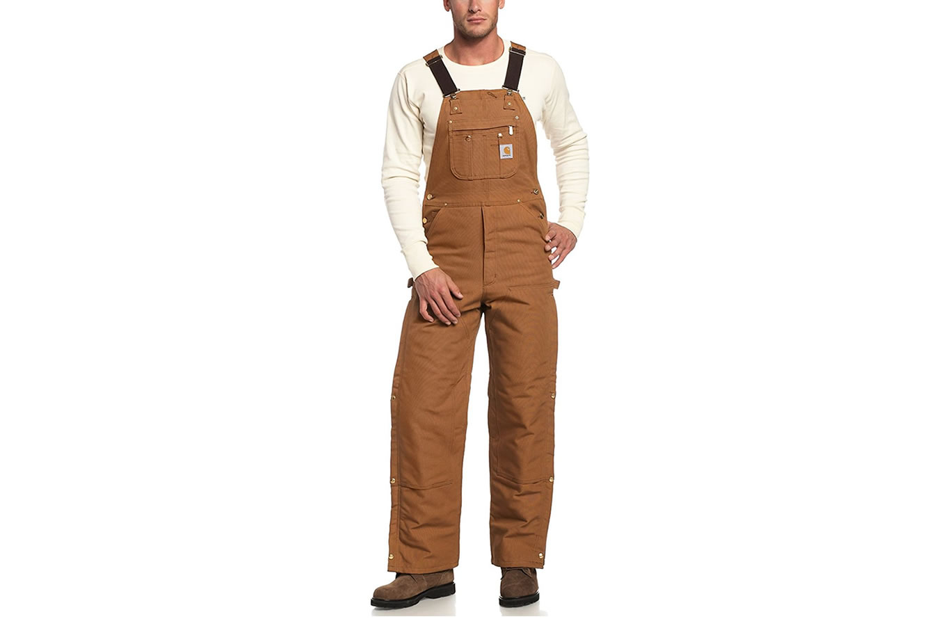 cae54f4a62 Carhartt Duck Zip-to-Thigh Bib Overall/Quilt Lined   Vance Outdoors