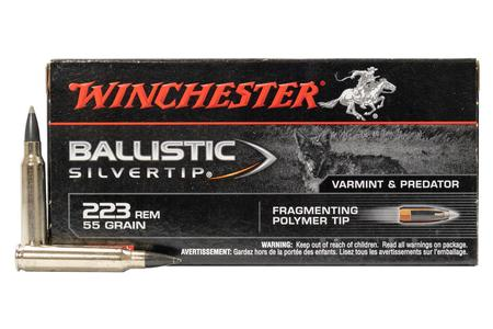 Winchester 223 Rem 55 gr Ballistic Silvertip Police-Trade Ammo 20/Box