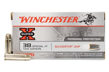 Winchester 38 Special 125 gr Silvertip JHP Super X Police Trade Ammo 50/Box
