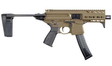 SIG SAUER MPX 9MM FDE WITH STABILIZING BRACE