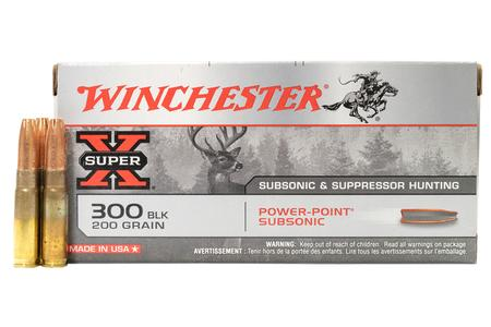 WINCHESTER AMMO 300 Blackout 200 gr Power Point Subsonic Super X 20/Box