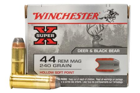 WINCHESTER AMMO 44 Magnum Super-X 240 gr Hollow Soft Point 20/Box